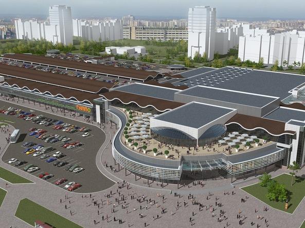 Гипермаркет «Гиппо» строится на пересечении проспекта Генерала Белобородова, улиц Буденного и Димитрова в Витебске